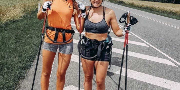 Silje,  Vilde And Their 50k/day Rollerski Vacation Across Denmark