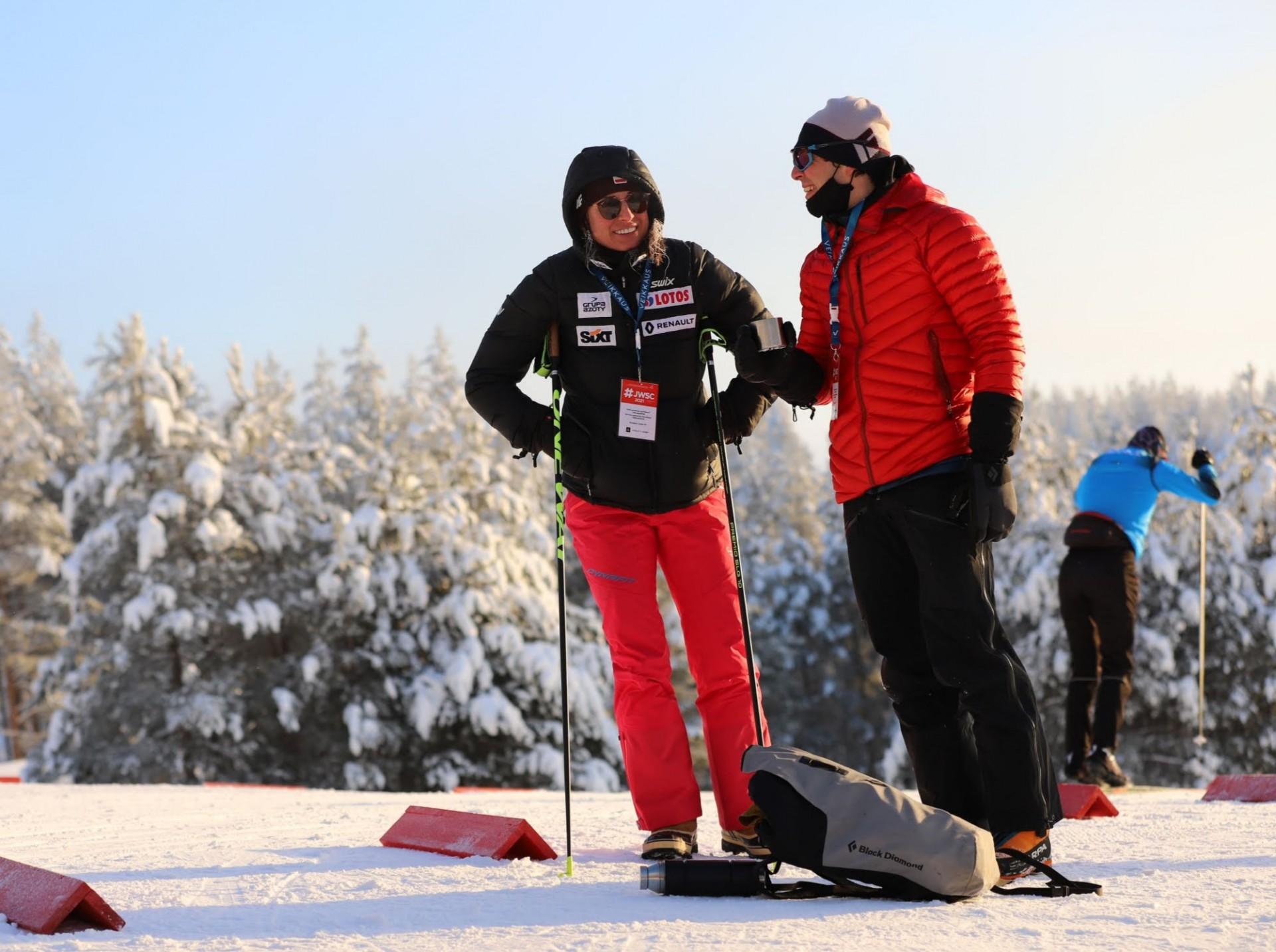 Justyna Kowalczyk and Kacper Tekieli became wife & husband last year. Justyna is at JWSC as a coach of female Polish skiers